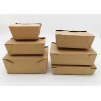 Quality Microwavable Stackable Folding Cardboard Takeaway Food Containers Recyclable for sale