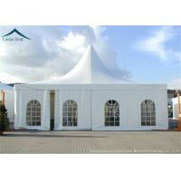 China 8x8m Giant Unique Luxury Pagoda Tents With Decorated Linings Curtains on sale