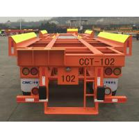 Buy cheap Solid Tyre Flatbed Container Trailer 45ft 2 Axles Container Transport Trailer product