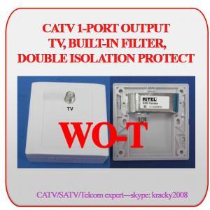 CATV/MATV 2-PORT OUTPUT TV Wall outlet WO-TT