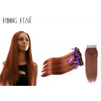 Buy cheap #33 Colored Brown 4 Bundles No Synthetic Hair Mixed Human 100 Percent Human Hair from wholesalers