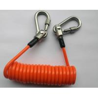 Buy cheap Plastic Coiled Lanyards Spring , Wrist Lanyards With Swivel Stainless Steel Carabineer product