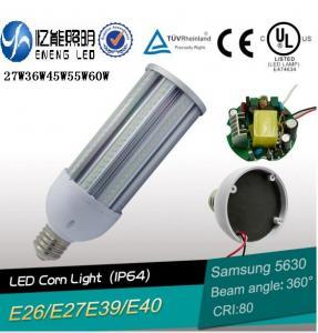 Buy cheap high lumen 130LM/W E27E40E26E39 60W led street light lamp led corn light smd5630 cri>80 3 years warranty CE ROHS product