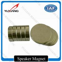 Buy cheap N35 N42 N52 Disc Neodymium Permanent Magnets Nickel Coating For Speaker product