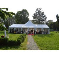 Buy cheap High Peak Top White Canvas Marquee Party Tent For Wedding Reception Waterproof product