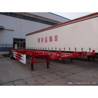 Buy cheap Single axle skeletal container truck trailer - TITAN VEHICLE product