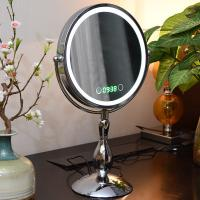 China Metal Double Sided Rotatable Led MakeUp Mirror Iron With Chrome Plated on sale