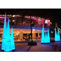 Buy cheap Blue Red Led Light Inflatable Cone Oxford Cloth For Outdoor Traffic product