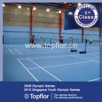Buy cheap Anti-slip waterproof Indoor PVC Sports Flooring for Badminton court product