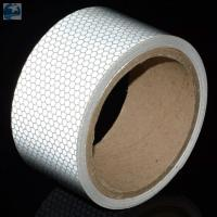 Buy cheap Light 2 Inch White Reflective Tape For VehiclesDOT C2 Glass Beads Pressure Sensitive Type product