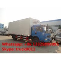 Buy cheap dongfeng DFAC fish vegetable food meat hook refrigerator truck, dongfeng 120hp seafood transported cold room truck product