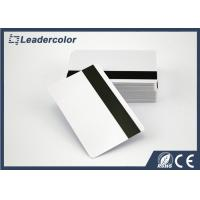 China ISO White RFID Chip Card / Blank Magnetic Strip Card Signature Panel on sale