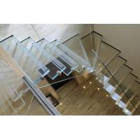 Buy cheap High quality Morden Comercial (interior) floor Stair thermoformed Glass / Glass steps product