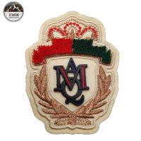 Buy cheap Royal Exquisite 3D Puff Embroidery Digitizing Velvet Patch With Rubber Lable product