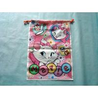 Buy cheap Pink Handle Plastic Bags Marie Cat Image with Bottom Gusset product