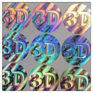 Buy cheap Custom die-cut hologram printer labels 3D security label,Anti-fake 3D hologram label,security custom hologram sticker product
