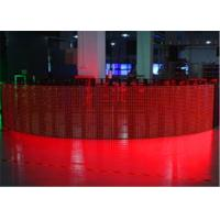 Buy cheap Ultra Thin P12mm Flexible LED Curtain Display LED Mesh Screen CE / CCC product