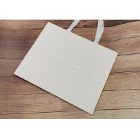 Buy cheap Degradable Cloth Carrying Kraft Paper Packaging Bags With Hot Stamped Logo product