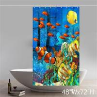 Buy cheap Blue ocean pattern shower curtain product