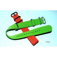 Buy cheap 18mm, 20mm, 22mm, 24mm Red / Green Nylon Watch Straps With Metal Loops, Buckles OEM product