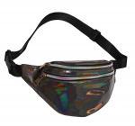 Buy cheap Fashion Waist Pack Holographic Waist Bag Large Fanny Belt Laser Leather Design Bum Bag 3 Pouches Rainbow Zipper Wholesal product