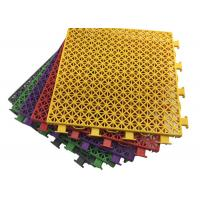 Buy cheap Antimicrobial Anti Slippery Interlocking Modular Flooring Organic Compounds Qualified product