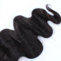 Buy cheap Unproducssed Peruvian Hair Natural Color Body Wave 4*4 Lace Closure product