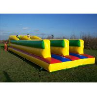 Buy cheap Challenging Bungee Run Playground Inflatable Sports Games With 2 Lane CE product