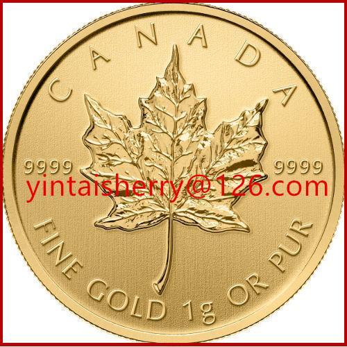 Quality Maple leaf replica coin gold / silver souvenir coin for sale