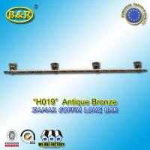 Buy cheap Ref No zamak H019 zinc casket long bar  metal coffin hardware 1.55 meter long with 4 bases product