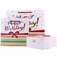 Buy cheap Cheap happy birthday paper bag wholesale custom printing logo with handle product