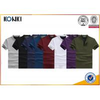 Quality Knitted Custom Polo Shirt 100% Cotton Polo Shirts 200gsm Fabric Weight for Men for sale