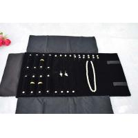 Buy cheap Black Custom Jewelry Packaging Portable Velvet Jewelry Roll Bag Organizer For Women Traveling product