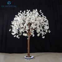 Quality 1.5m Height Artificial White Cherry Blossom Wedding Decor Moisture Resistant for sale