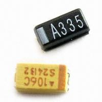 Buy cheap Tantalum Capacitors with Lead-free Terminations, 2.5 to 50V Voltage and 1.6mm Height product