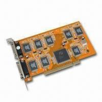 Buy cheap DVR PCI Video Card, Supports PAL/NTSC, Plug-and-Play Function and Audio Monitor product