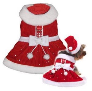 China Christmas dog clothes on sale