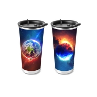 Buy cheap 450ml PP Cup 3D Lenticular Printing Service For Promotion Gifts product
