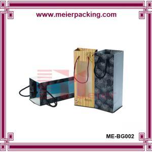 Buy cheap Paper Bag for Wine Bottle/Handmade Wine Paper Bag with Clear Window/Kraft Wine Paper Bag ME-BG002 product