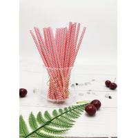 Buy cheap Eco - Friendly Red Paper Drinking Straws Customized Size Non - Stick Detached Easily product