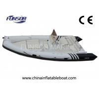 Quality Motorized V - Shaped Hard Bottom Inflatable Boats 12 Person With CE Approved for sale