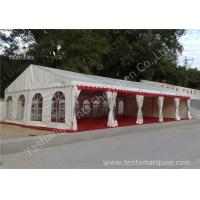 Buy cheap Out side White PVC Cover Aluminum Frame Clear Span Tent with Red Carpet product