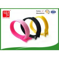 Buy cheap Customize Pink Hook And Loop Cable Tie / Hook And Loop Fastener Straps 15*180mm product