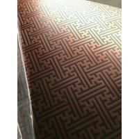 Buy cheap 304 Hairline Bronze Stainless Steel Plate Copper Plating Sheet Brass Color product