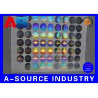 Buy cheap 2cm Diameter Custom Holographic Stickers Anti - Counterfeiting PET Material product
