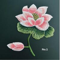 Buy cheap Large Embroidered Flower Patches , Sew On Embroidered Appliques On Lace Fabric product