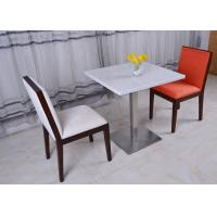 Stainless Steel Marble Top Dining Room Chair Modern French Restaurant Table