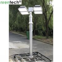 Buy cheap 12m pneumatic telescopic mast lighting tower 6x120W LED mounted for fire tender lighting tower product