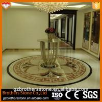 Buy cheap Beige Marble Water Jet Medallion Bathroom Flooring And Wall Pattern Design product