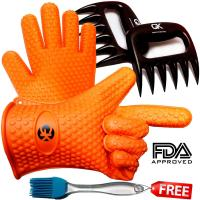Buy cheap Orange Outdoor Silicone Kitchen Utensil Set Heat Resistant Silcone Gloves Set product